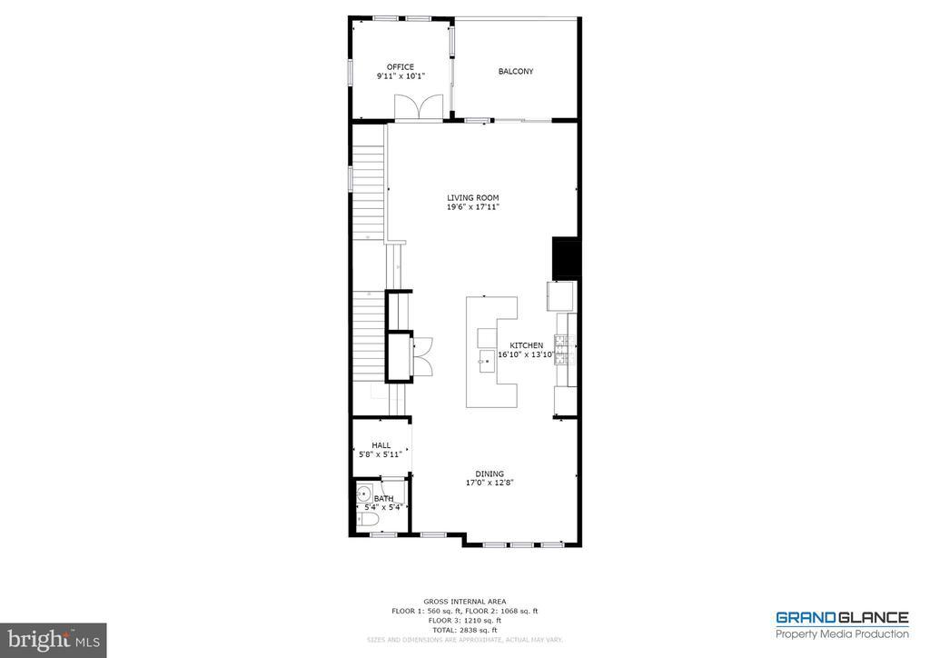 Floor plan - main level - 42280 IMPERVIOUS TER, BRAMBLETON