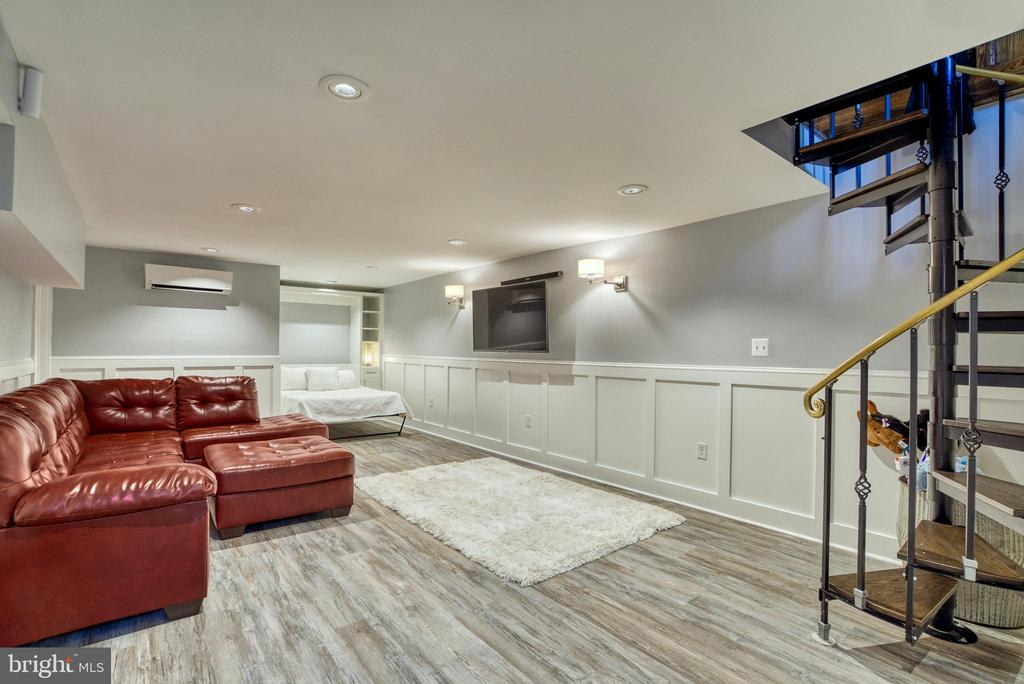 Basement with ductless HVAC mini-split - 7500 CLIFTON RD, CLIFTON