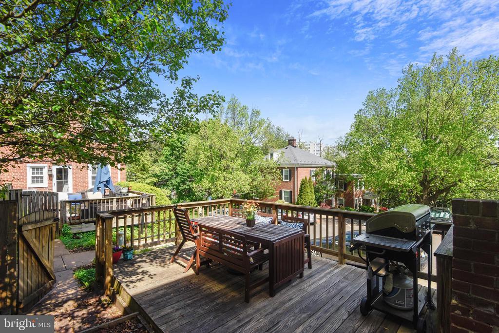 HUGE back patio with elevated wood deck - 3270 S UTAH ST, ARLINGTON