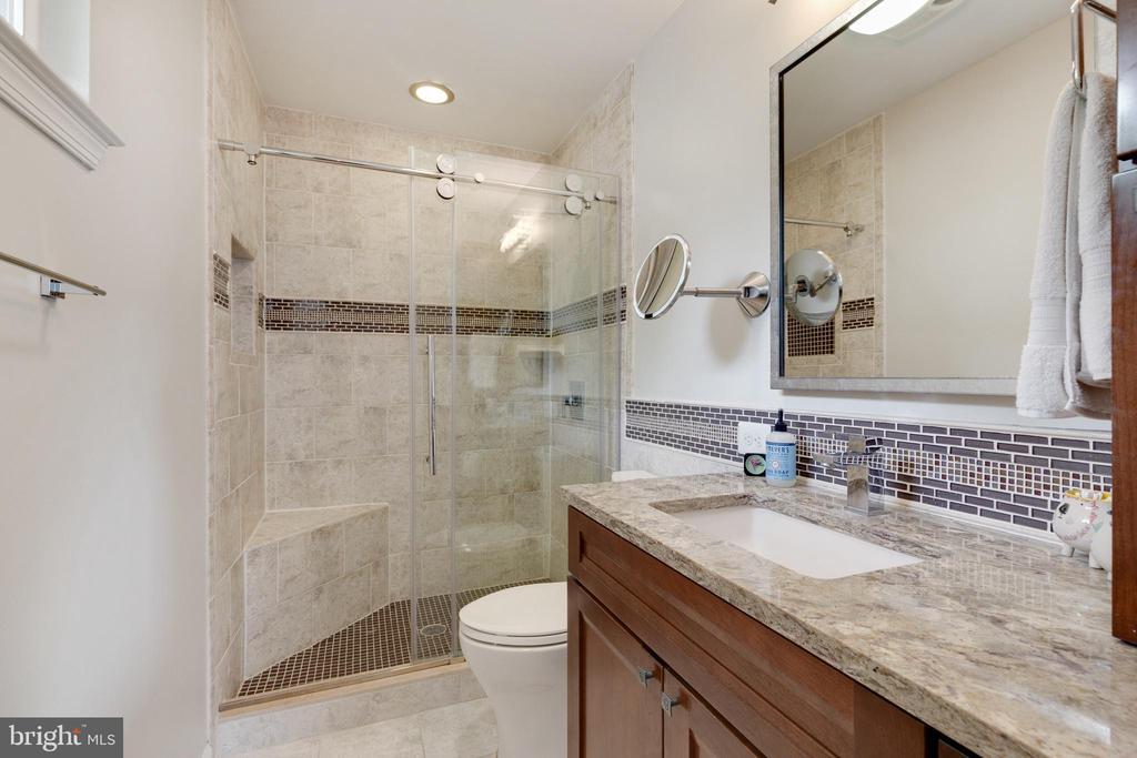 Master Bath with Beautiful Custom Tile and Granite - 5068 COLERIDGE DR, FAIRFAX