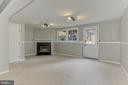 Finished Lower Level with Cozy Fireplace - 44043 CHOPTANK TER, ASHBURN