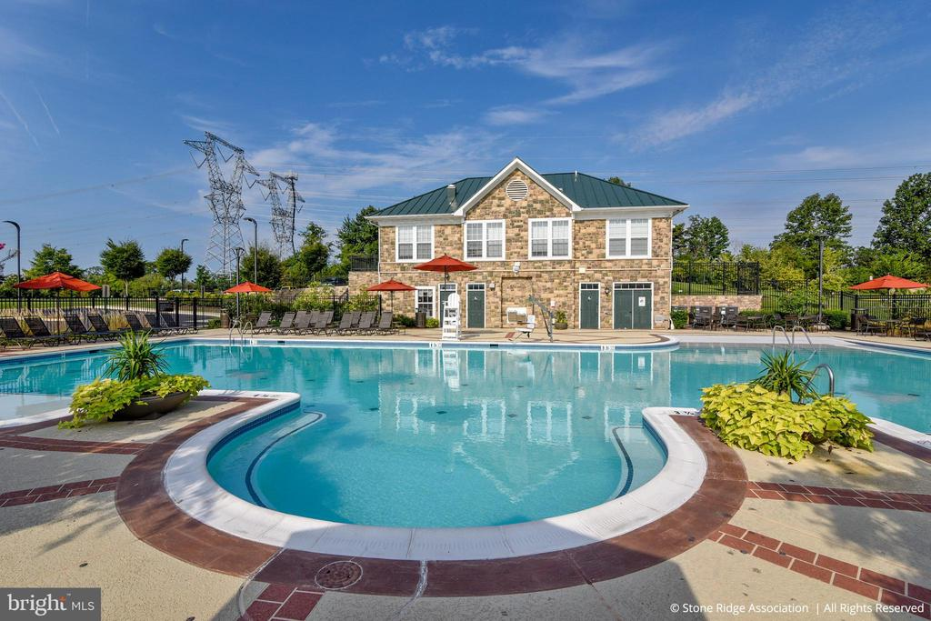 Stone Carver Pool has beach entry and fountain! - 41959 ZIRCON DR, ALDIE