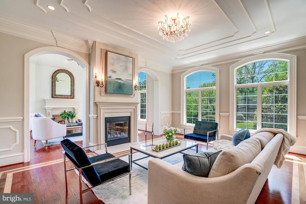 Formal Living Room Flooded with Natural Light - 8334 ALVORD ST, MCLEAN