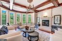 Coffered Ceiling with Private Rear Grounds Views - 8334 ALVORD ST, MCLEAN