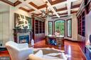 Coffered Celing, Built-Ins, Marble Fireplace - 8334 ALVORD ST, MCLEAN