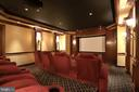 Upholstered Stadium Seating, 4K Projector - 8334 ALVORD ST, MCLEAN