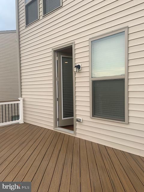 Rear of property on living space rear deck - 42426 DOGWOOD GLEN SQ, STERLING