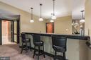 Huge bar with granite countertops - 147 STEFANIGA FARMS DR, STAFFORD