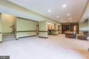 This lower level rec room has tons of space - 147 STEFANIGA FARMS DR, STAFFORD