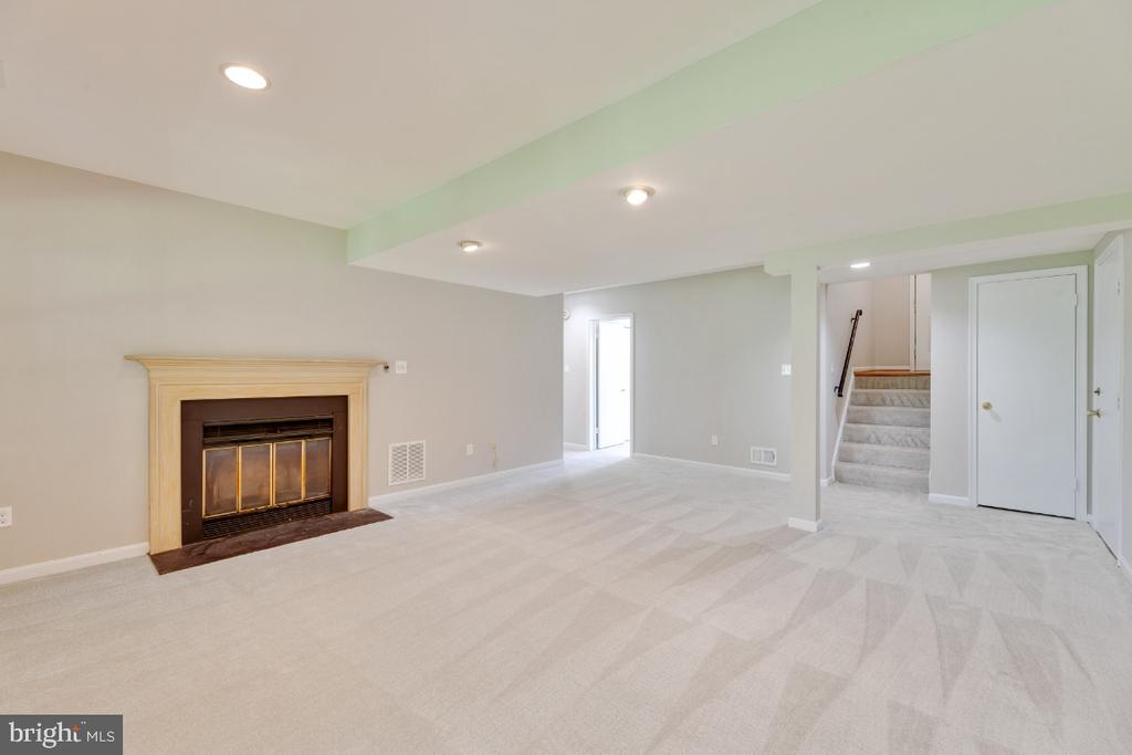 Large Rec Room with Fireplace - 13406 PARCHER AVE, HERNDON