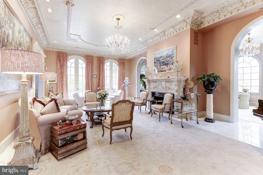 Living Room with Archways to The Folly - 2221 30TH ST NW, WASHINGTON