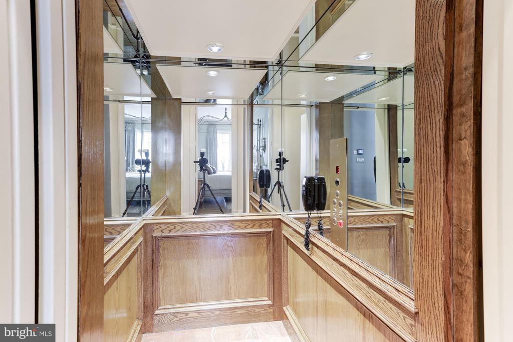 Wood Paneled Elevator to All 4 Floors - 2221 30TH ST NW, WASHINGTON