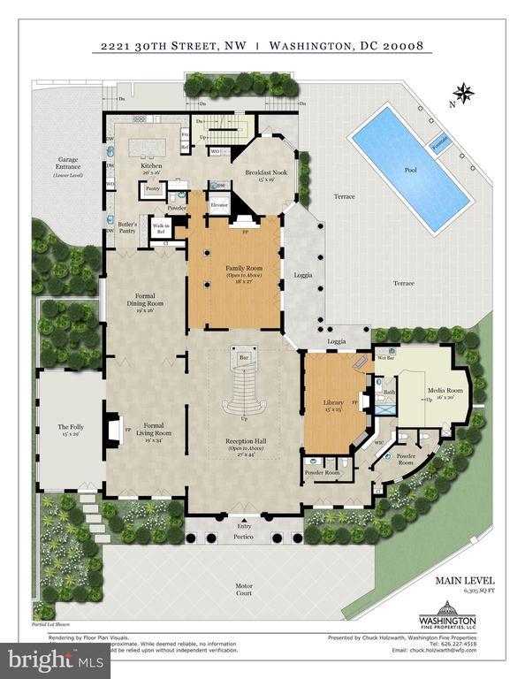 Main Level Floor Plan - 2221 30TH ST NW, WASHINGTON