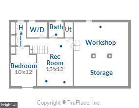 Lower level floor plan - 119 WOODBERRY RD NE, LEESBURG