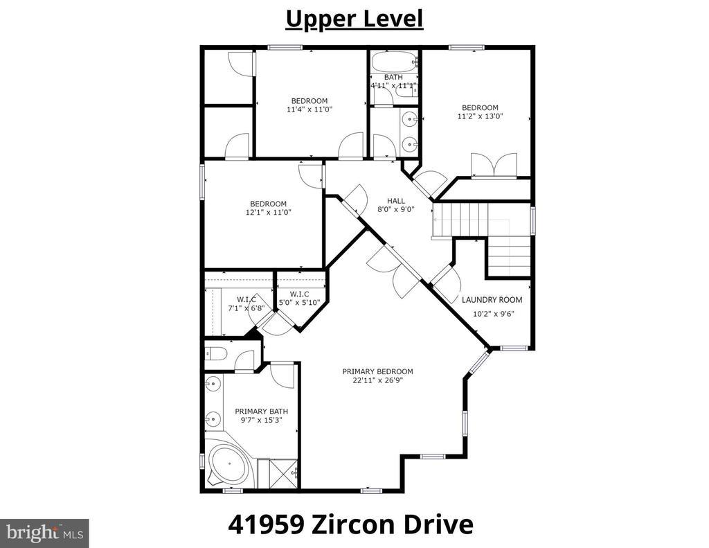 Upper Level Floorplan - 41959 ZIRCON DR, ALDIE