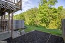 Private Backyard with View of Trees - 11317 WYTHEVILLE LN, FREDERICKSBURG