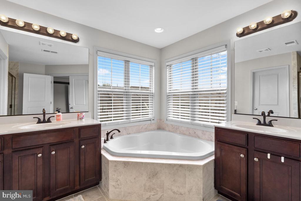 Master Bath w/ soaking tub & double vanities! - 23636 SAILFISH SQ, BRAMBLETON