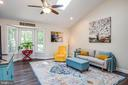 Bright and airy living room with bay window! - 6300 TAVERNEER LN, SPOTSYLVANIA