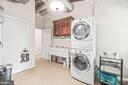 Stackable washer & dryer & utility sink in mud roo - 5898 COVE HARBOUR, KING GEORGE