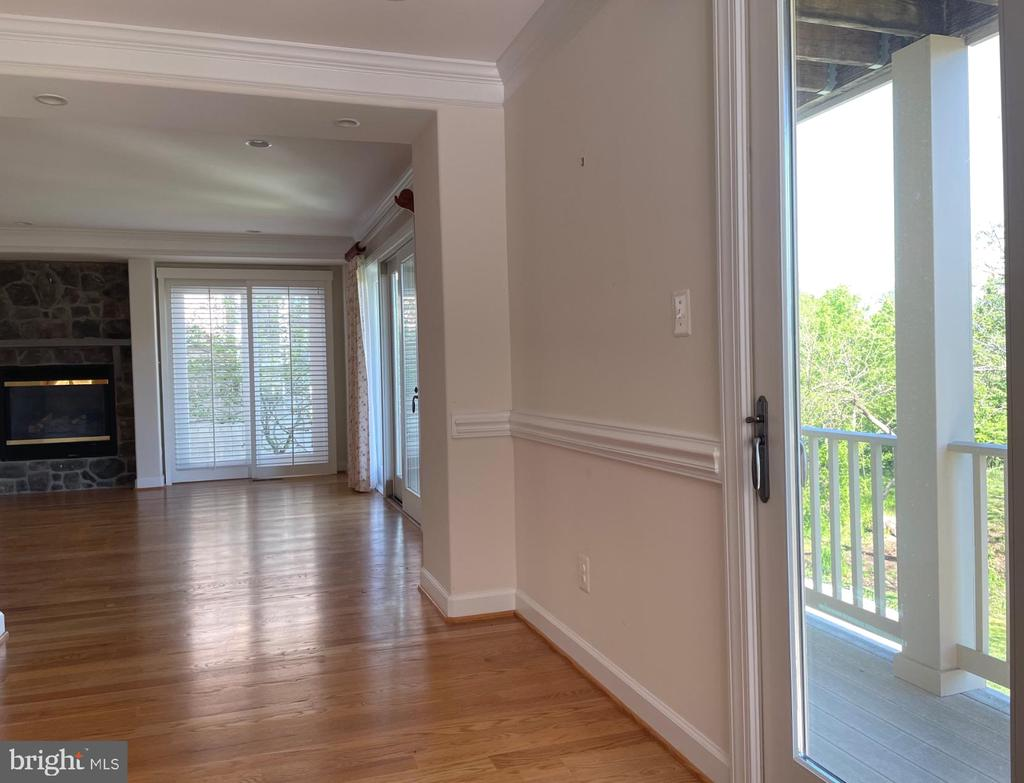 Looking from dining room to living room and deck - 126 N JAY ST, MIDDLEBURG