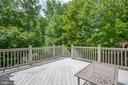 Large deck overlooking backyard - 29 WALLACE LN, STAFFORD