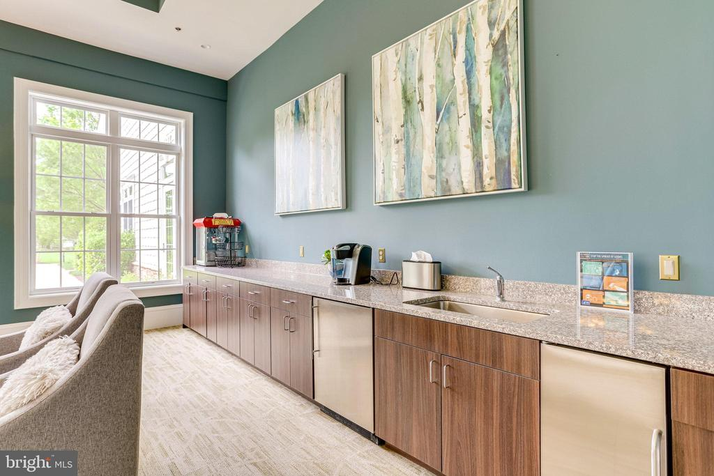 Coffee Bar with Sink and small Ice Maker - 20580 HOPE SPRING TER #207, ASHBURN