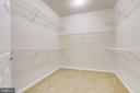 Huge Walk In Closet with Multi Level Hanging - 20580 HOPE SPRING TER #207, ASHBURN