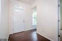 Coat closet and powder room to the left. - 502 APRICOT ST, STAFFORD