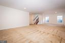 Lower level with 3 large windows. - 502 APRICOT ST, STAFFORD