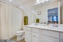 double vanity in hall upstairs bath - 12504 BAINSWOOD CT, FREDERICKSBURG