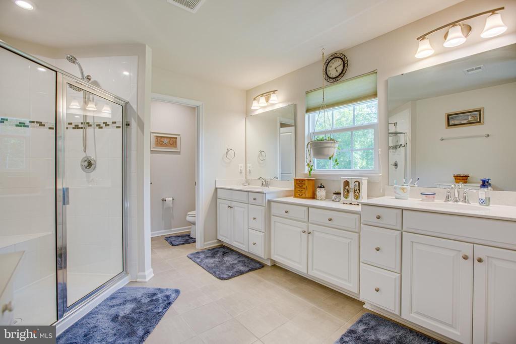 Shower has dual shower heads - 12504 BAINSWOOD CT, FREDERICKSBURG