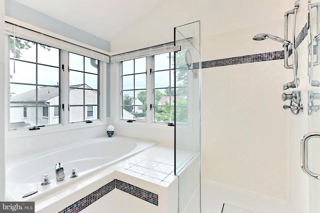 Primary Bathroom with glass-framed shower - 508 DRANESVILLE RD, HERNDON