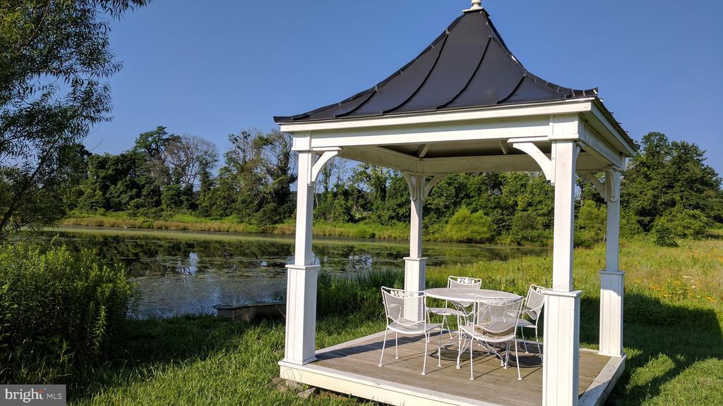 Pavilion at the pond for relaxing, meditation - 20775 AIRMONT RD, BLUEMONT