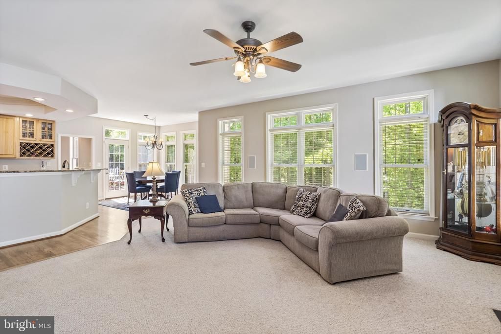 Light filled family room - 13 LUDWELL LN, STAFFORD