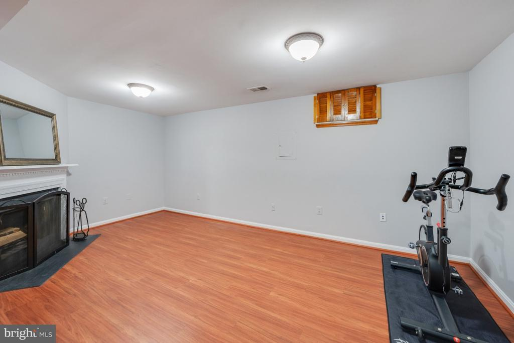 Large Rec room with fireplace - 5752 HERITAGE HILL DR, ALEXANDRIA