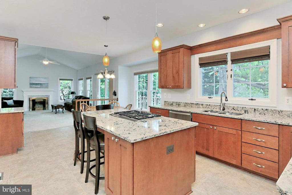 The heart of the home - a beautiful Kitchen - 508 DRANESVILLE RD, HERNDON