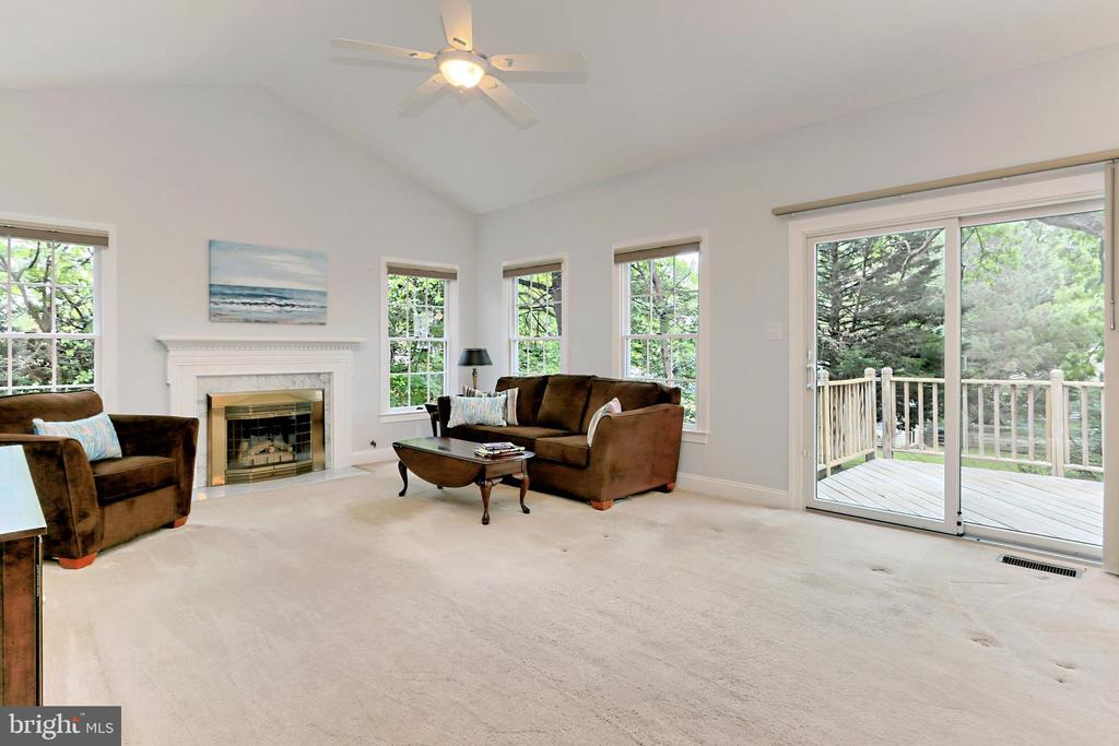 Family Room with walk-out to spacious deck - 508 DRANESVILLE RD, HERNDON