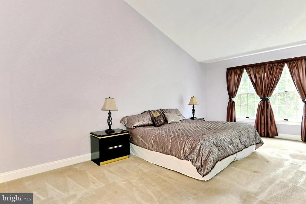 Upper Level Primary Bedroom with vaulted ceiling - 508 DRANESVILLE RD, HERNDON