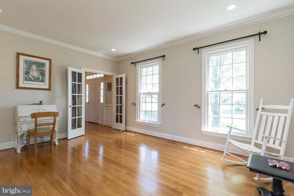 Living Room with Glass Door Entry - 13645 MELSTONE DR, CLIFTON