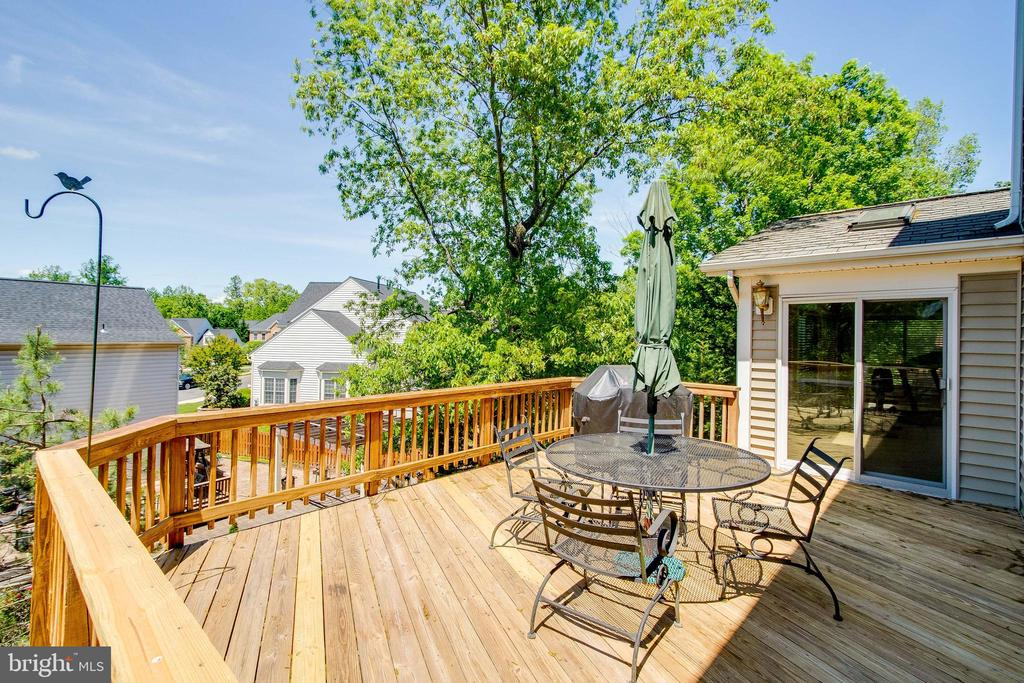 Deck off Kitchen and Sunroom - 13645 MELSTONE DR, CLIFTON