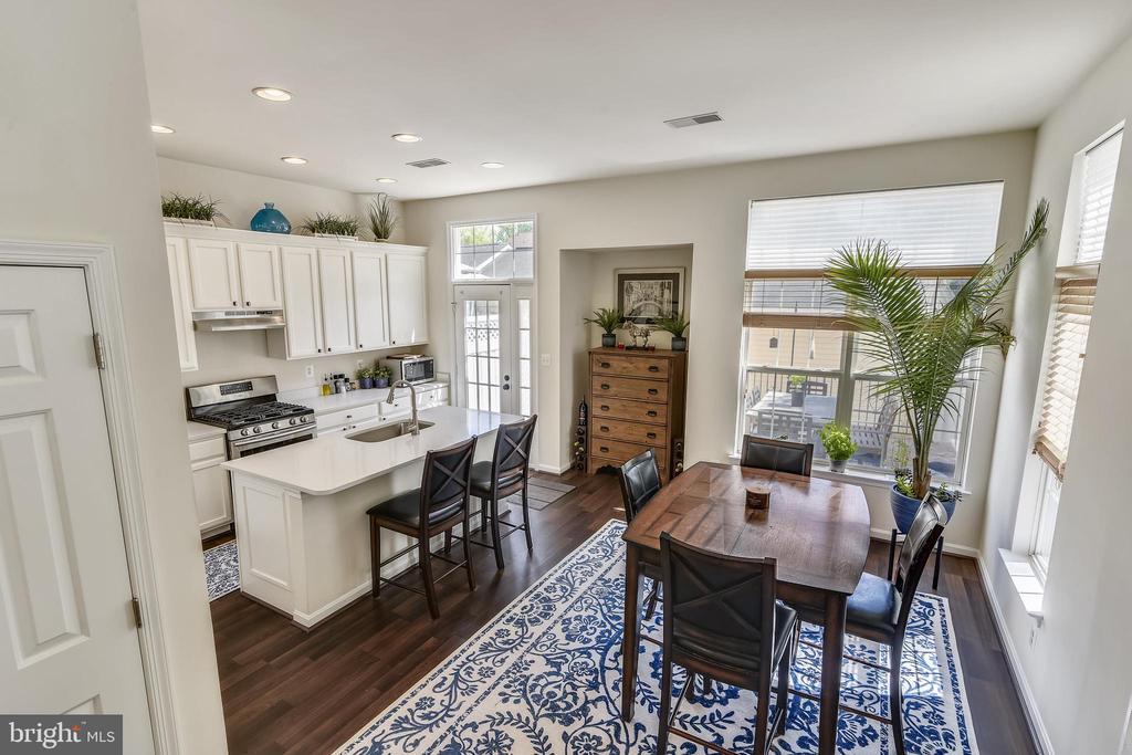 Crisp white kitchen - 43533 MINK MEADOWS ST, CHANTILLY