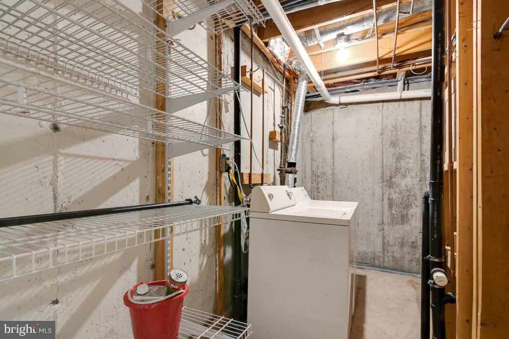 Unfinished storage, utility and laundry room - 8444 SUGAR CREEK LN, SPRINGFIELD