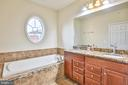 Owners Spa bath with Granite - 42810 LAUDER TER, ASHBURN