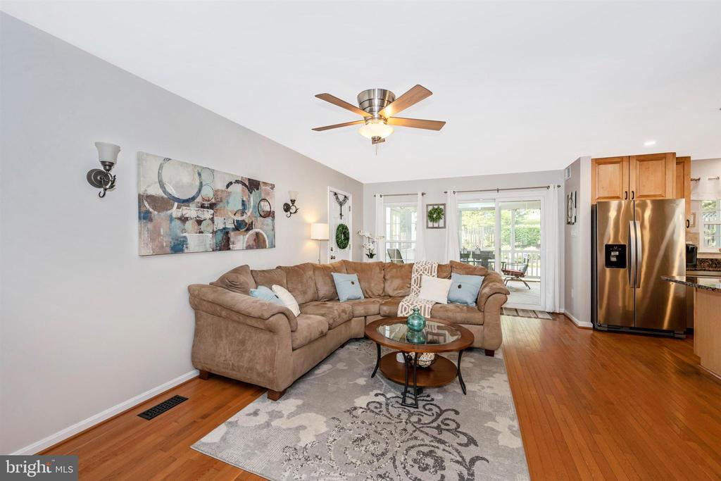 Living room w/ceiling fan - 17004 INDIAN GRASS DR, GERMANTOWN