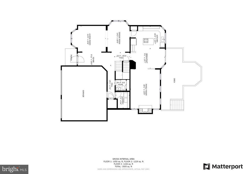 Floor Plan - Main Level - 612 PATRICE DR SE, LEESBURG