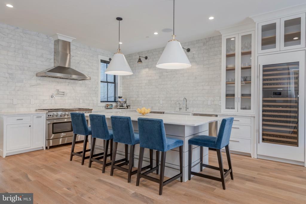 Kitchen features 2 dishwashers + 2 wine fridges - 212 A ST NE, WASHINGTON