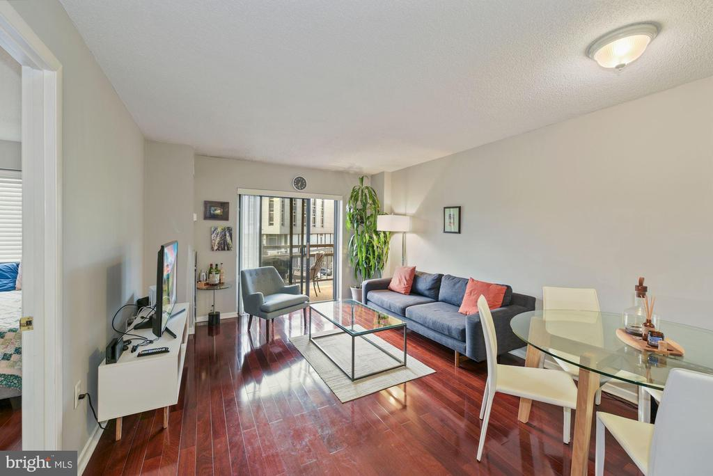 Dining area looking towards living room. - 2111 WISCONSIN AVENUE, NW #420, WASHINGTON