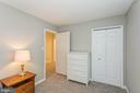 Bedroom #3 with large closet - 13619 BRIDGELAND LN, CLIFTON