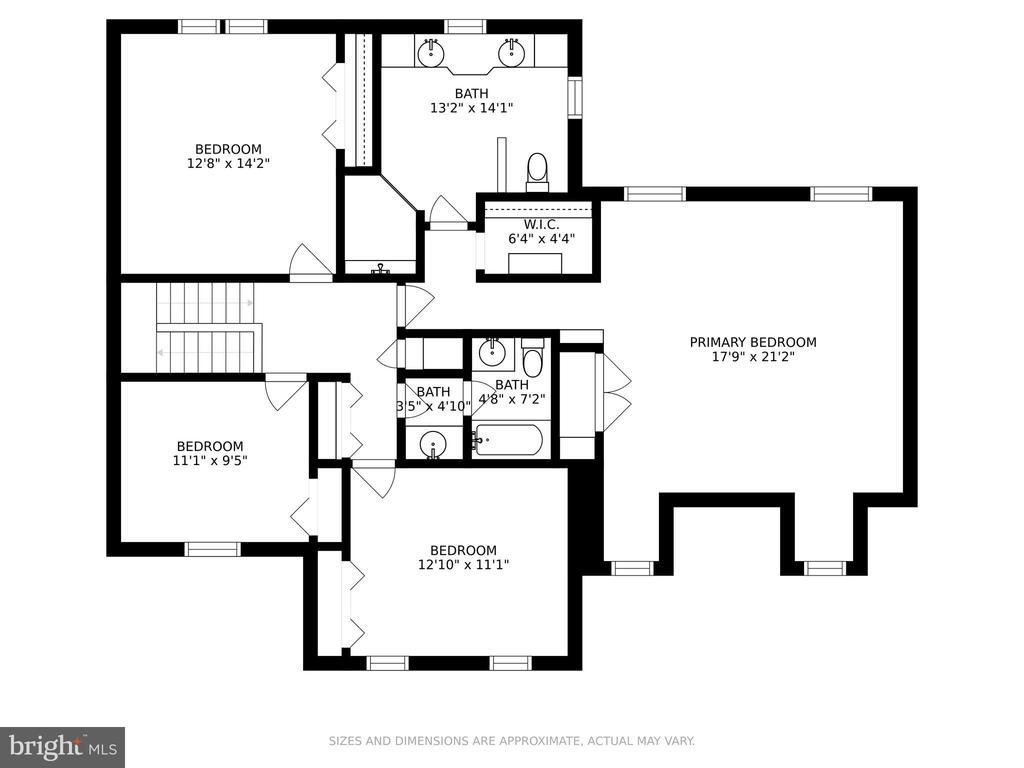 Upper level floor plan - 13619 BRIDGELAND LN, CLIFTON