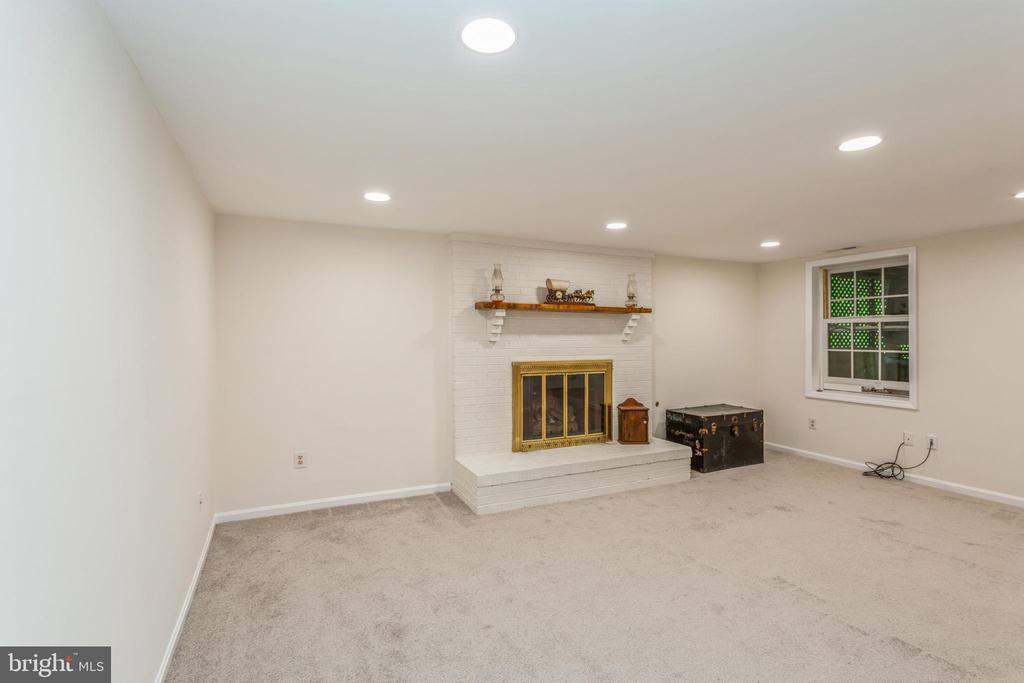 Rec room w/ gas fireplace, new carpeting in lower - 13619 BRIDGELAND LN, CLIFTON